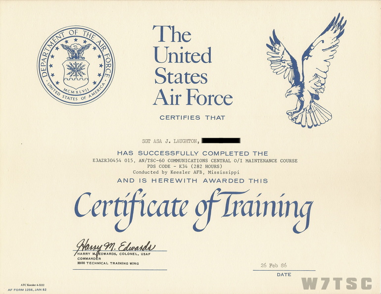 TSC-60 School Certification